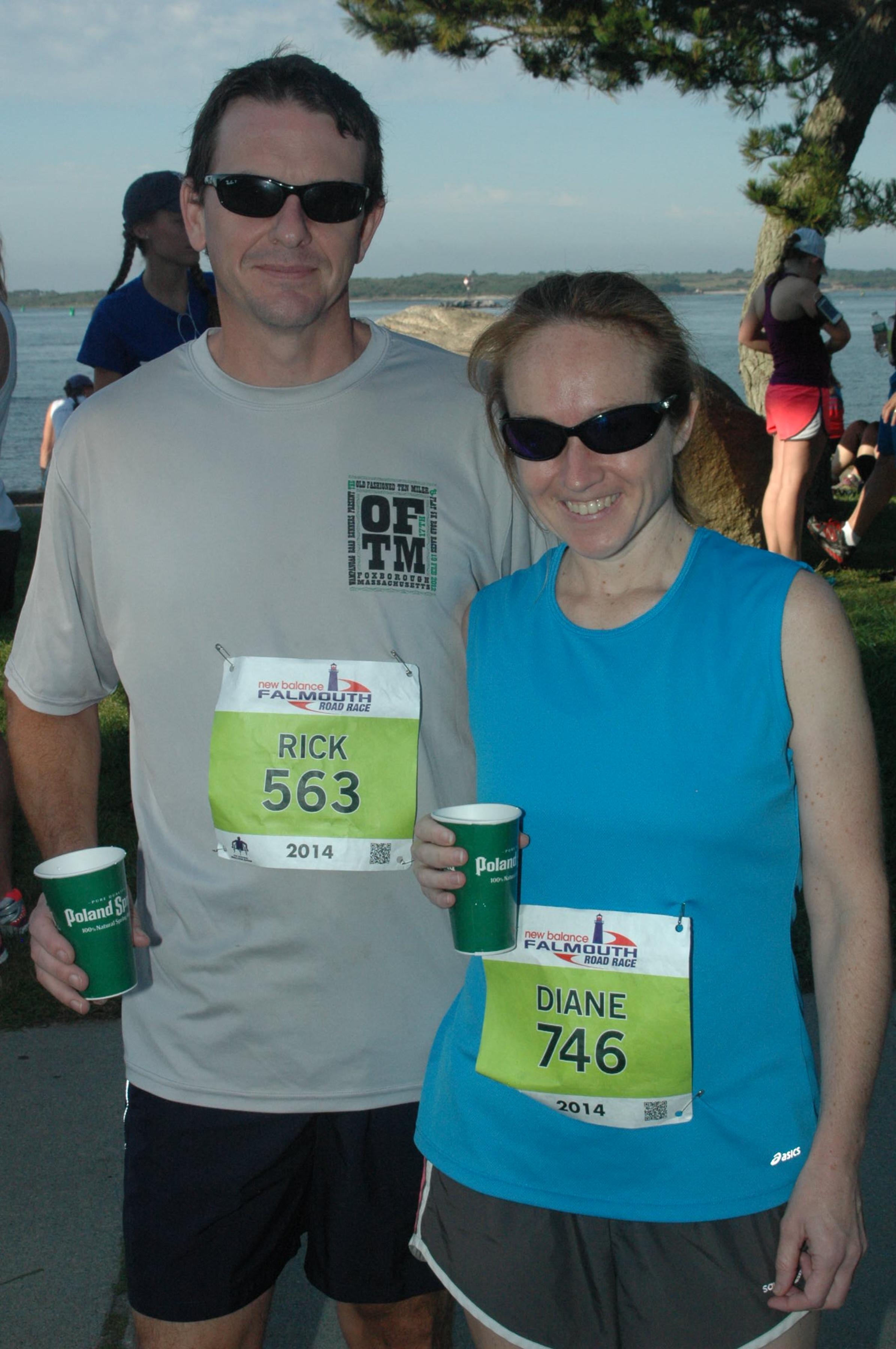 Rick and Diane at Falmouth 2014
